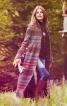 Пальто максі з коміром-стійкою - фото 1