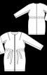 Пальто О-силуету з вкороченими рукавами - фото 3