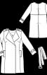 Пальто тренчкот з відлітною кокеткою на спині - фото 3