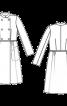 Пальто відрізне двобортне з коміром-стойкою - фото 3