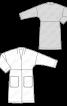 Пальто просторе з приспущеною лінією плечей - фото 3