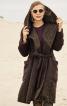 Пальто із суцільнокроєним капюшоном - фото 1