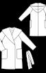 Пальто із суцільнокроєним капюшоном - фото 3