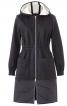 Пальто приталеного силуету з капюшоном - фото 2