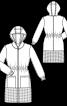 Пальто приталеного силуету з капюшоном - фото 3
