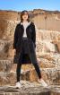 Пальто приталеного силуету з капюшоном - фото 1