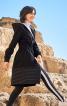 Пальто приталеного силуету з капюшоном - фото 4