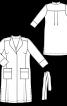 Пальто лаконічного крою з коміром-стойкою - фото 3