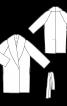 Пальто шерстяне із шалевим коміром - фото 3
