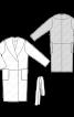 Пальто з запахом і шалевим коміром - фото 3