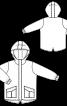 Парка з капюшоном і накладними кишенями - фото 3