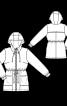 Куртка з капюшоном і куліскою на талії - фото 3