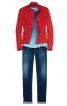 Куртка джинсова в стилі бомбера - фото 1