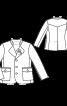 Піджак янкер з коміром-стійкою - фото 3