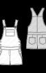 Півкомбінезон короткий у джинсовому стилі - фото 3