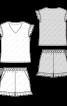 Пижама трикотажная с шортами - фото 3