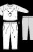 Піжама трикотажна «ведмедик» - фото 3