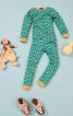 Піжамні трикотажні брюки з манжетами - фото 1