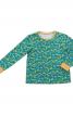 Піжамний пуловер з контрастними манжетами - фото 2