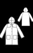 Плащ-дощовик з капюшоном - фото 3