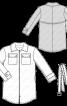 Куртка в спортивному стилі з відкладним коміром - фото 3
