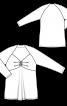 Пуловер-туніка  із завищеною талією - фото 3