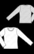 Пуловер простого крою з довгими рукавами - фото 3