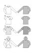 Пуловер простого крою з комбінованими рукавами - фото 6