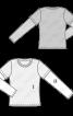 Пуловер простого крою з комбінованими рукавами - фото 3