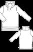 Пуловер прямий з великим коміром-стойкою - фото 3