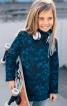 Пуловер прямий з великим коміром-стойкою - фото 1