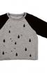 Пуловер реглан з принтом - фото 2