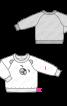 Пуловер реглан з анімалістичним декором - фото 3