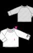 Пуловер реглан з контрастною планкою горловини - фото 3