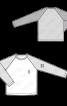Пуловер з контрастними рукавами реглан - фото 3