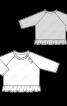 Пуловер реглан із застібкою на кнопки та оборкою - фото 3