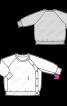 Пуловер реглан із застібкою на кнопки - фото 3