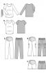 Пуловер просторого крою з поясом - фото 7