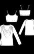 Пуловер трикотажний і бюстьє на бретелях - фото 3