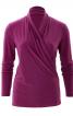 Пуловер приталеного крою з ефектом запаху - фото 2