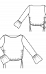 Пуловер короткий з оборками на рукавах - фото 3