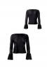 Пуловер прямого крою з оборками - фото 2