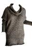 Пуловер довгий з коміром хомутом - фото 2