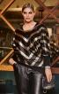 Пуловер довгий з V-подібним вирізом - фото 1