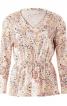 Пуловер піжамний з V-подібним вирізом - фото 2