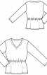 Пуловер піжамний з V-подібним вирізом - фото 3