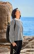 Пуловер просторий зі складками на рукавах - фото 1