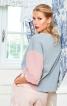 Пуловер просторий у стилі колор-блокінг - фото 1