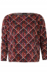 Пуловер просторого крою зі зборками на плечах - фото 2