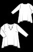 Пуловер-тільник із фігурним нижнім краєм - фото 3